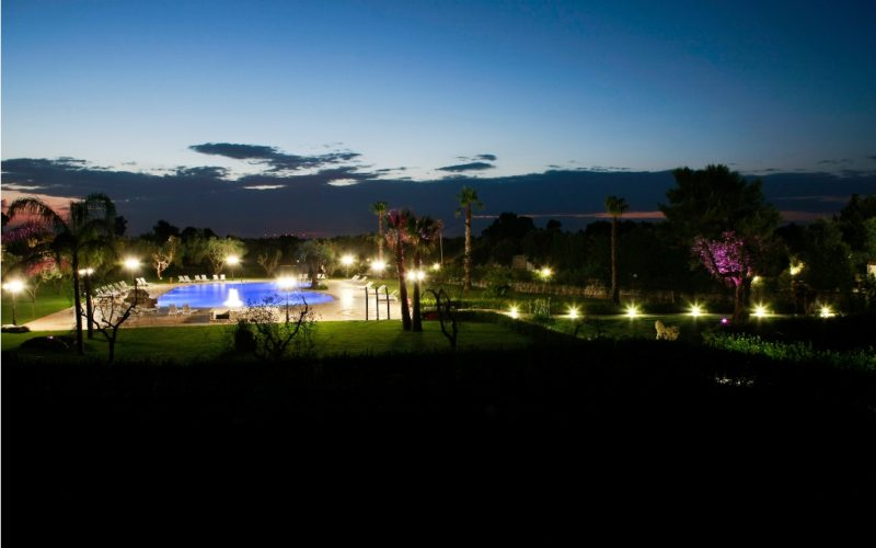 LaFattoria_Pool view bynight