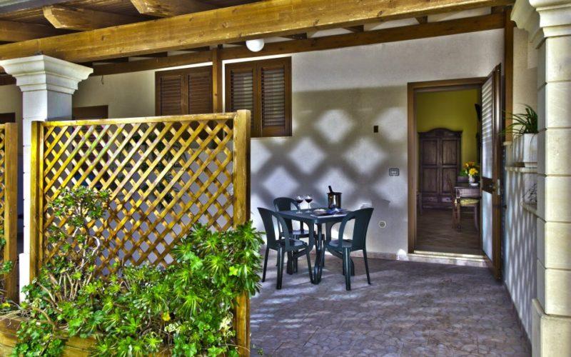 Private Veranda of the Rooms