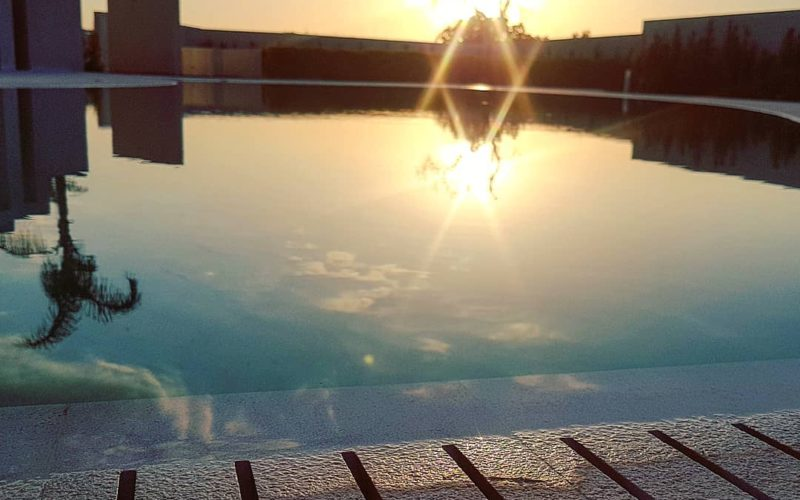 Swimming Pool_sunset