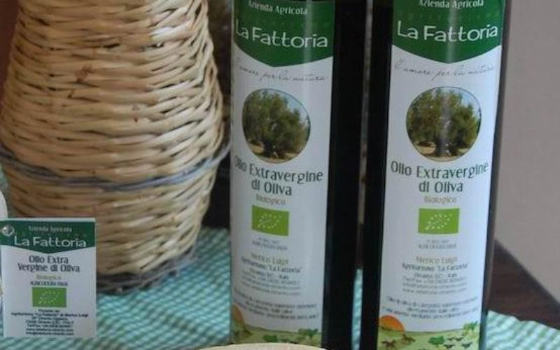 olive oil and cheese produced by La Fattoria