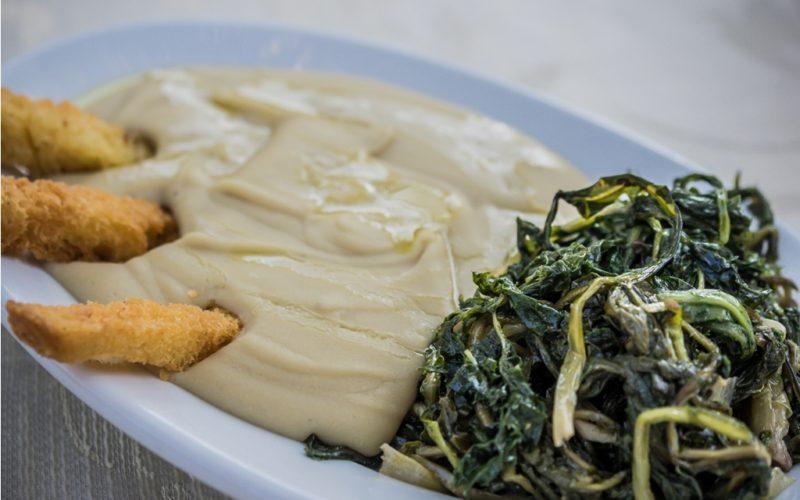 traditional food_purè di fave e cicorie